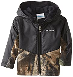 Columbia Baby Boys\' Steens Mt Overlay Hoodie, Timberwolf/Black, 12-18 Months