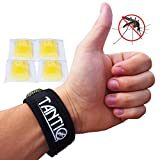 Mosquito Repellent Bracelet (4x refill) by TantiQ - Safe, Natural Pest Control - DEET Free Indoor or Outdoor Insect Control - Kid Safe Insect Repellant - Waterproof, Adjustable Design