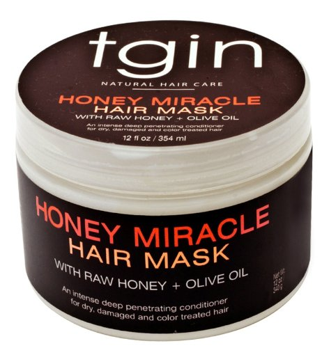 tgin Honey Miracle Hair Mask Deep Conditioner for Natural Hair, 12oz