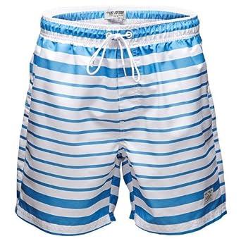 Jack & Jones Mix Striped Swim Shorts White/Blue - XXL (36-38in)