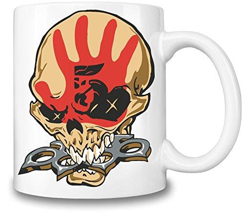 Five Finger Death Punch Skull Logo Tazza Coffee Mug Ceramic Coffee Tea Beverage Kitchen Mugs By Genuine Fan Merchandise
