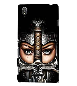 printtech Girl Warrior Sword Back Case Cover for Sony Xperia T3