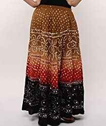 Soundarya Women Cotton Skirts -Multi -Free Size
