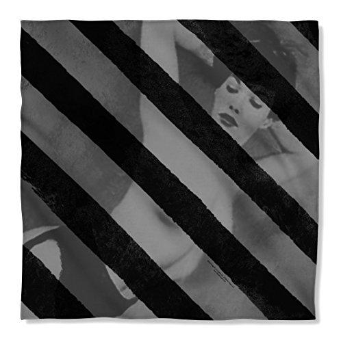 Bettie Page Black Stripes Sublimation Bandana