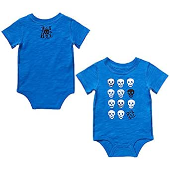 Amazon Amy Coe Skull ROCK & ROLL Baby Boys Bodysuit