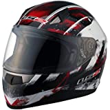 LS2 Helmets FF384 Full Face Motorcycle Helmet with Asphalt Graphic (Red/Black/White, XX-Large)
