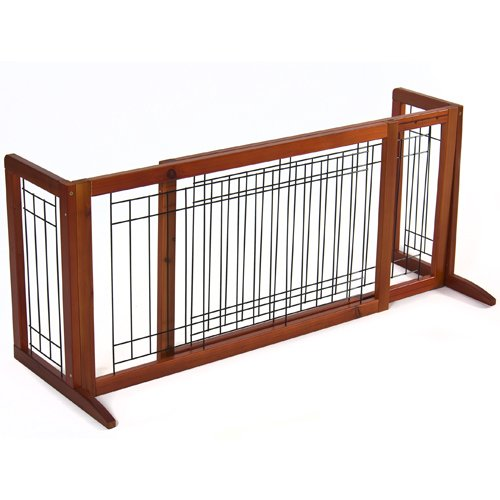 Best Choice Products Pet Fence Gate Free Standing Adjustable Dog Gate Indoor Solid Wood Construction (Freestanding Pet Barrier compare prices)