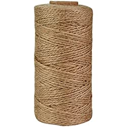 Jmkcoz 300 Feet Natural Jute Twine Arts Crafts Twine Industrial Gift Packing Materials Bakers Twine Durable Natural Twine