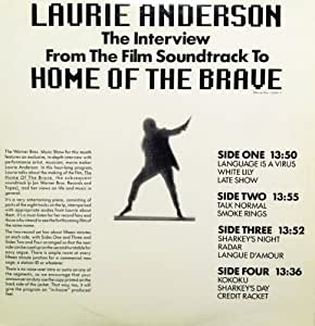 an analysis of home of the brave by laurie anderson Home of the brave is a music live recording by laurie anderson (crossover  prog/progressive rock) released in 1986 on cd, lp / vinyl  write a review.