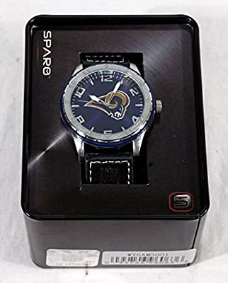 Los Angeles LA Rams NFL Licensed Logo Sparo Gambit Color Bezel Wrist Watch