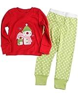 [Baby House] Boys Girls Christmas pajama T shirt+long pants A7168#Y1