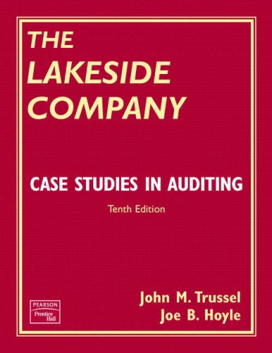 Auditing and Assurance Services: AND Lakeside Company, Case Studies in Auditing: An Integrated Approach