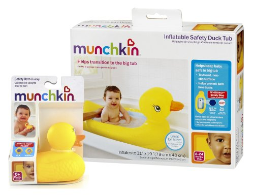 Munchkin White Hot Inflatable Safety Tub And Bath Ducky Set Encore Second H