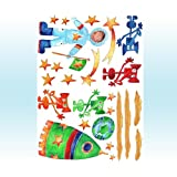 boys stickers,boys room stickers,wall stickers, spacemanby tigerlilyprints