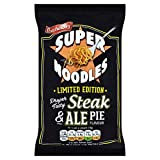 Batchelors Limited Edition Steak and Ale Pie Flavour Super Noodles 100g (Pack of 4)