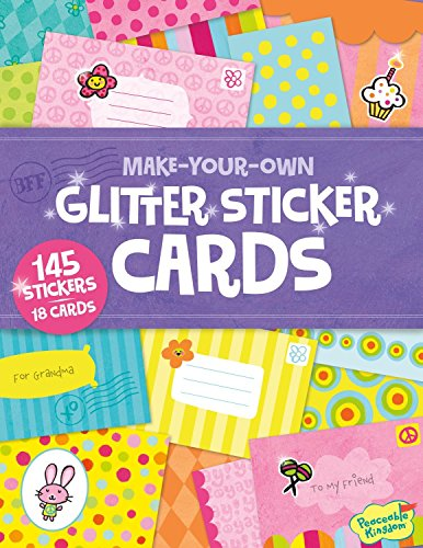 Peaceable Kingdom Make Your Own Glitter Sticker Cards Activity Book - 1