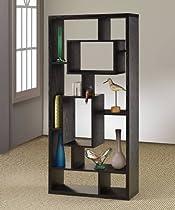 Big Sale Coaster Room Divider Shelf In Black Oak Finish