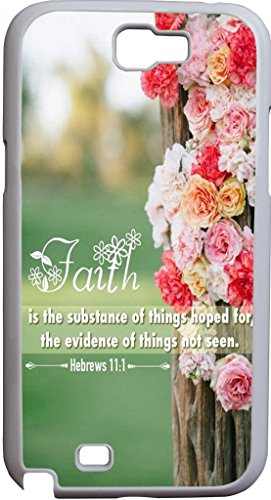 Faith Is The Substance Of Things Hoped For The Evidence Of Things Not Seen Hebrews 11:1 Christian Quote Bible Verses Pattern Print High Quality Hard Plastic Cover Protector Sleeve Case For Sumsung Galaxy Note Ii 2 front-967719
