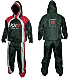 XXR Hooded Heavy Duty Sweat Suit Sauna Exercise Gym Suit Fitness Weight Loss Anti-Rip Hoodie Hoody S-XXL