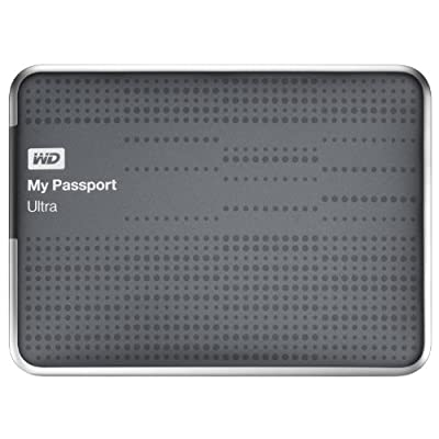 WD My Passport Ultra 2TB Portable External USB 3.0 Hard Drive with Auto Backup - Titanium