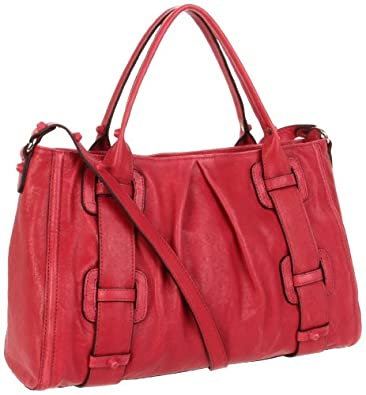 Treesje  Piper Satchel,Magenta,One Size