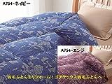 西川 羽毛ふとん リフォーム ロイヤルスター/ゴアテックスコース 日本製 (ダブルからシングルコース, A754-ネイビー)