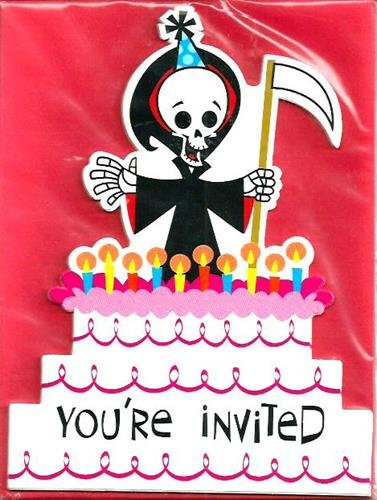 Grim Reaper Any Age Birthday Invitations 8 Count - 1