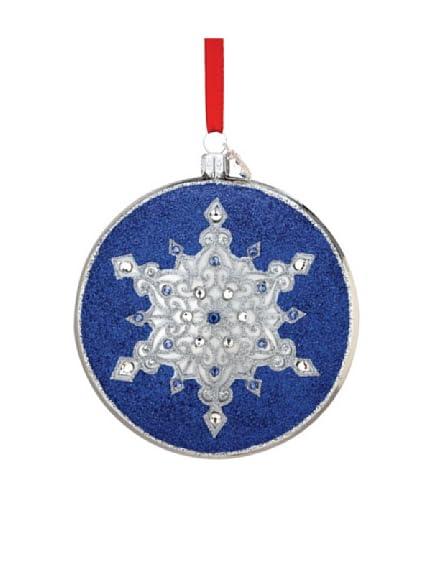 Reed & Barton European Glass Blown Regal Snowflake Ornament