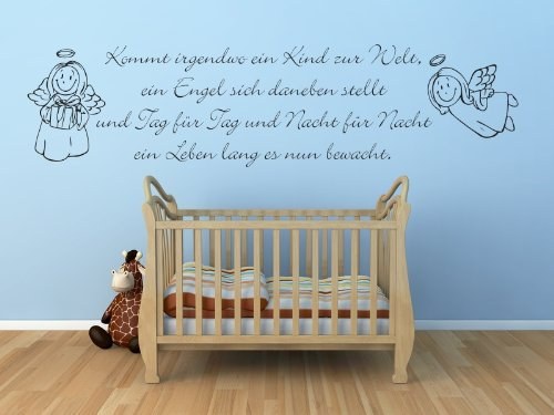 kinderzimmer wandtattoo wandtattoo kinderzimmer spruch mit engel ein engel sich daneben. Black Bedroom Furniture Sets. Home Design Ideas