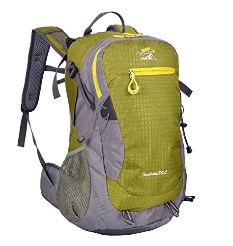 Zerd 30L Unisex Waterproof Outdoor Camping Travel Backpack Outdoor Hiking Daypacks Climbing Cycling Bag Waterproof Mountaineering Green