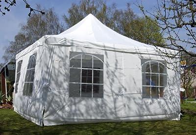 Partyzelt Pavillon Zelt Festzelt 4 x 4 M wasserdicht von Nexos Trading bei Gartenmöbel von Du und Dein Garten