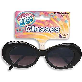 Forum Novelties 62154F Black Mod Tinted Glasses
