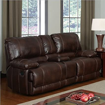 Global Furniture Leather Reclining Loveseat