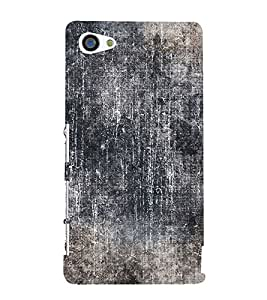 Black Color Wall 3D Hard Polycarbonate Designer Back Case Cover for Sony Xperia Z5 Compact :: Sony Xperia Z5 Mini
