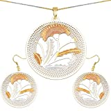 Gleam Touch Metal Pendant Set (NCPS107)