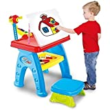 Toys Bhoomi Multi-Function Kids Drawing Projector Desk Table With Chair - Educational Learning Table
