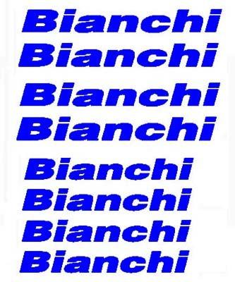 BIANCHI (8) Blue BIKE FRAME STICKERS Vinyl Stickers/Decals (Bike re-finishing)