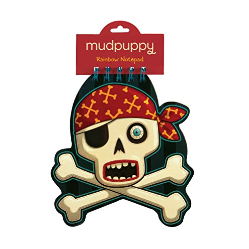 Mudpuppy Skull & Crossbones Rainbow Notepad