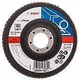 Bosch Pro Fächerschleifscheibe Expert for Metal zum Schleifen von Metall  für Winkelschleifer (Ø 115 mm, Körnung 80, gerade)