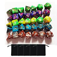 Smart Deals Pro 5 X 7 Die Series Two Colors Dungeons And Dragons Dnd Rpg Mtg Table Games Dice With Free Pouches