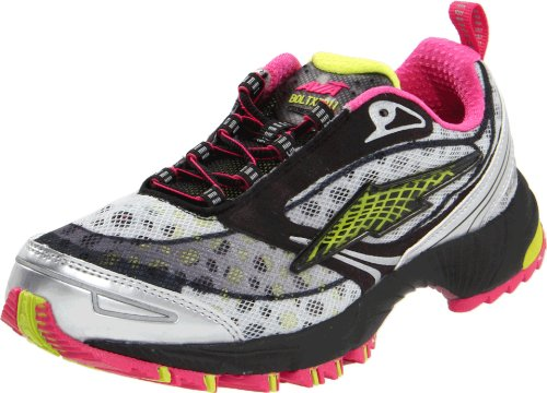 AVIA  Women's Avi-bolt XZR Running Shoe,Dark Grey/Dark Pink/Light Green,8.5 M US