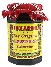 Luxardo Italian Maraschino Cherries In Syrup 400 Gram Jar (Pack of 12)