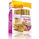 Suzie's Kamut Flatbreads with Rosemary, 4.5-Ounce Boxes (Pack of 12)