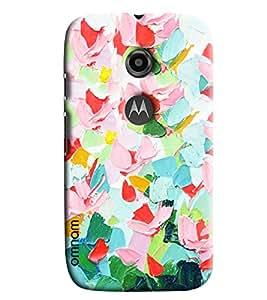 Omnam Brush Paint Effect Printed Designer Back Cover Case For Moto E2