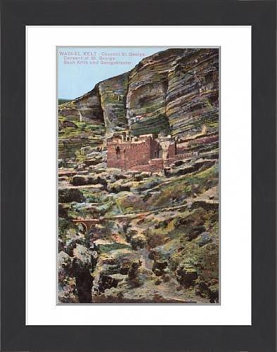 framed-print-of-monastery-of-st-george-wadi-qelt-west-bank-palestine