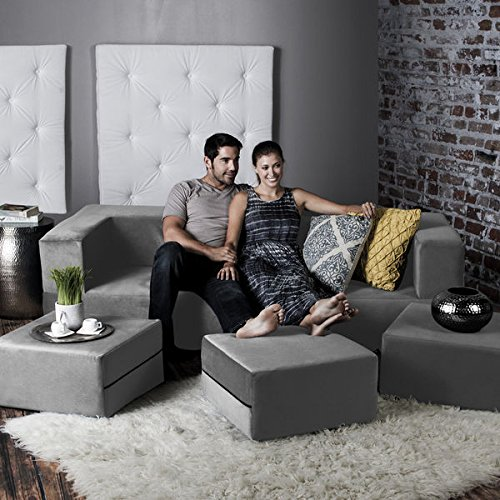 Jaxx Zipline Modular Sofa and Ottomans (4-piece Set) (Jaxx Modular compare prices)