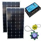 HQRP Solar Panel Kit (240W (120W+120W) Mono-crystalline Solar Panel, 20A Solar Charge Power Controller / Regulator 12V / 24V 20 Amp Auto Charging) + HQRP UV Meter