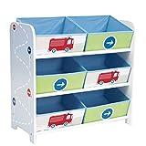 Toy Organizer Aufbewahrung Spielzeugkiste Kindermöbel Feuerwehr Schilder Verkehr Storage Canvas