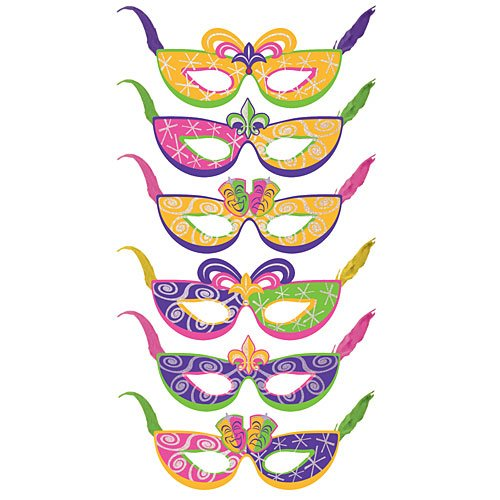 Party Masks Package of 6