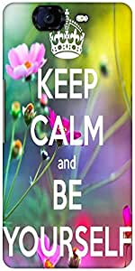 Snoogg Keep Calm And Be Yourself Designer Protective Back Case Cover For Micromax Canvas Knight A350